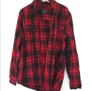 Basic black and red flannel
